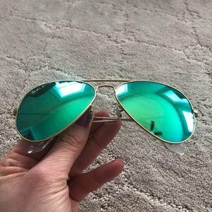 Aviator Flash Lenses Green Blue Polarized
